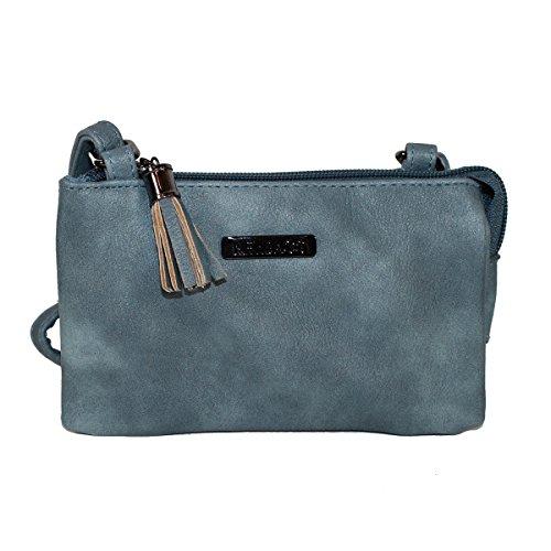 New Bags Mini-Ausgehtasche Handtasche Umhängetasche klein Denim Blau