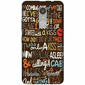 Printland Printed Hard Plastic Back Cover for Lenovo K6 Power -Multicolor
