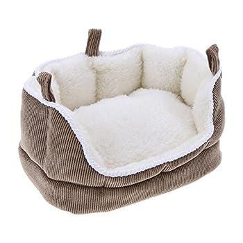 Demiawaking Hamster Hamac Lit en coton doux pour animal domestique Oiseau Rat à suspendre Lit canapé Maison Nest jouet Coussin de couchage pour petits animaux