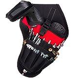 NoCry Werkzeughalter für Akkuschrauber | Werkzeuggürtel mit Platz für Zubehör und offenen Schlaufen für die Aufbewahrung von Werkzeugen und Bohrern | Schneller Zugriff | Befestigung am Gürtel