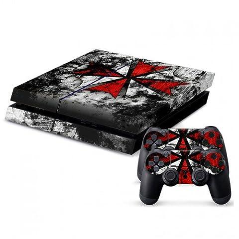 Skin Sticker/Aufkleber passend für PS4® Konsole und 2 PS4® Controller - GCTM0094 (Resident Evil Controller)