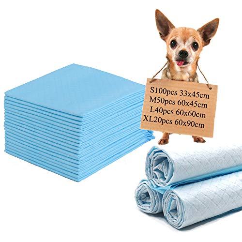 WXLJJYPD Tappetini Igienici con Carbone Attivo per l'addestramento di Cagnolini e Altri Animali Domestici Super Assorbenti Antibatterico ed Antiodore,S