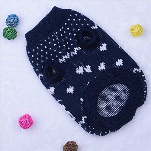 molie Haustier Hund Weihnachten Pullover Bekleidung (L, Blue) - 4