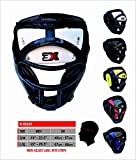 Kopfschutz mit Gitter aus Rex-Kunstleder (Maya-Hide-Leder), Kopfschutz für Boxen und gemischte Kampfkünste (MMA), Vollschutzhelm für UFC-Kämpfe, Sparring-Helm, von 3X Professional Choice, weiß, S/M