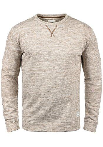 REDEFINED REBEL Marty Herren Sweatshirt Pullover Sweater mit Rundhals-Ausschnitt aus hochwertiger Baumwollmischung Meliert, Größe:XL, Farbe:Faded Brown