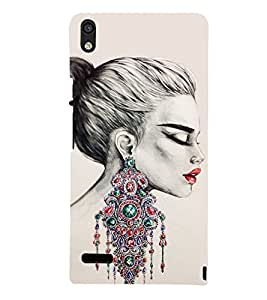 Amazing Girls Ear Rings 3D Hard Polycarbonate Designer Back Case Cover for Huawei Ascend P6 :: Huawei P6 :: Huawei Ascend P6 Dual