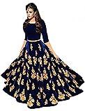 #4: Aracruz Ethnic Festival Offer Chaniya Choli for Women Traditional Navy Blue Taffeta Velvet Anarkali Lehenga Chaniya Choli for Garba Designer Lehenga Dress for Girls