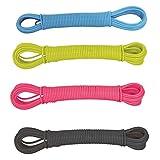 MSV 100433-Corda per biancheria, con fili, in acciaio e plastica, lunghezza: 10 m, Colori Assortiti