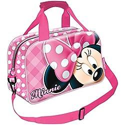 Karactermania Minnie Mouse Joyful Bolsa de deporte infantil, 38 cm, Rosa