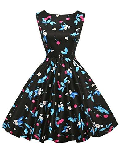 1950s vintage rockabilly kleid festliches kleid a linie kleid partykleider cocktailkleider Größe M...