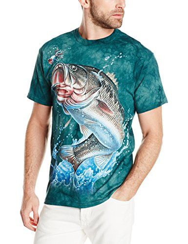 The Mountain Unisex Erwachsen Gr. L Bass Fisch T Shirt (Bass-fischen-shirt)