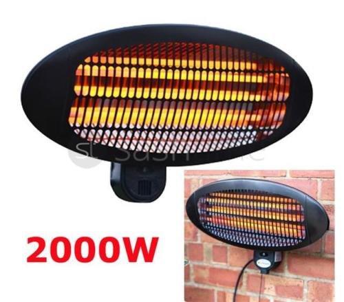 LIVIVO 2KW Electric Quartz Patio Heater 2000w Garden Outdoor Wall Mounted Waterproof-3 Power Settings