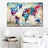 Leinwand Druck Plakat Rahmen Weltkarte Poster Drucke Abstrakt Gedruckt Günstige Discounted Abstrakte Ölgemälde Druck Auf Leinwand Wohnkultur