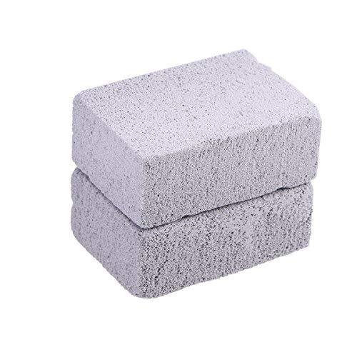 BESTONZON Stein-Reiniger für den Grill, ökologischer Stein-Reiniger, Bimsstein, Grillstein, für die Reinigung von Grills oder Backblechen, wiederverwendbare Bimssteine, 2 Stück -