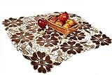 AmazingCurtains_Ltd Quadratisch Braun Bestickt Tischdecke 850,9x 850,9cm (85x 85cm)/Einzigartiges Design/Perfekt für Küche, Wohn oder dinig Raum