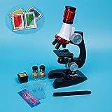 XuBa 1200X - Kit de microscopio biológico para niños, Juguetes de educación científica, Equipo de Laboratorio, Regalo de cumpleaños, Navidad, Regalo para niños