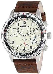 Reloj Timex T49893D7 de cuarzo para hombre con correa de piel, color marrón de Timex