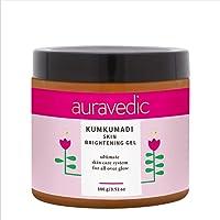 AURAVEDIC Kumkumadi Skin Brightening Gel, 100 G with Kumkumadi Tailam.Kumkumadi Face Oil for Glowing skin- Kumkumadi Gel…