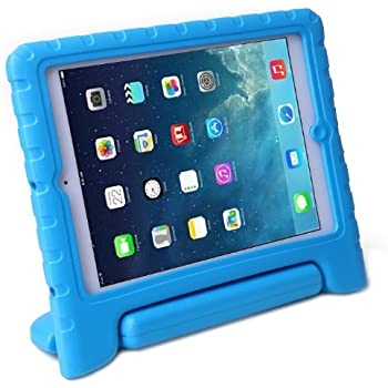 HDE iPad Air 1 Case for Kids Bumper Cover Shockproof Protection Handle Stand for iPad 5 (Blue)