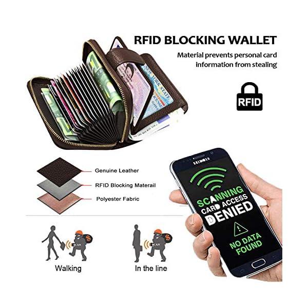 SPECOOL Porta Carte di Credito,Genuino del Titolare della Carta di Credito in Pelle e blocco RFID, Tasca Banconote… 2 spesavip