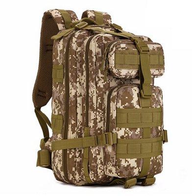 Mefly Gli Uomini Del Sacco Zaino 30L Per Escursione Trekking Camouflage Zaino Viaggio Zaino In Nylon Impermeabile Borsa Militare Pack Black desert