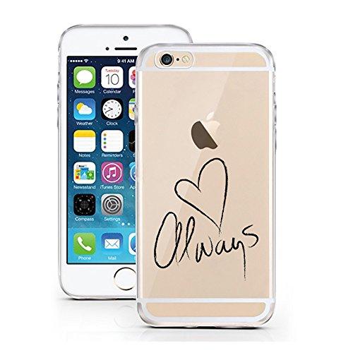 licaso iPhone 6 6S Hülle kompatibel für das Apple iPhone 6 & 6S aus TPU Silikon Always Heart Muster Ultra-dünn schützt Dein iPhone 6 Case Design Schutzhülle Bumper -