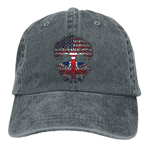 KKAIYA 2018 Adult Fashion Cotton Denim Baseball Cap AmericGrown British Roots Classic Dad Hat Adjustable Plain Cap -