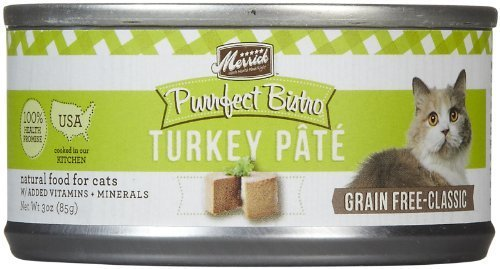 Merrick 24 Count Purrfect BistroTurkey Pat�� Canned Cat Food, 3-Ounce by Merrick (Purrfect Cat Food)
