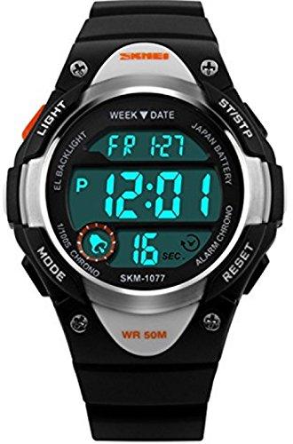 Niños al aire libre reloj deportivo impermeable natación LED Digital relojes con...
