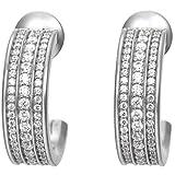 Joop Damen-Creolen 925 Silber Zirkonia weiß - JPER90332A000