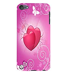 Fuson Love Hearts Back Case Cover for APPLE IPOD TOUCH 5 5th Gen - D3832