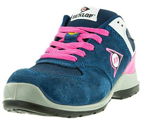 Dunlop Flying Arrow   Chaussure de Sécurité   Chaussures de Travail S3   avec Embout   Légères & Respirantes   Baskets de Protection de Travail Rose