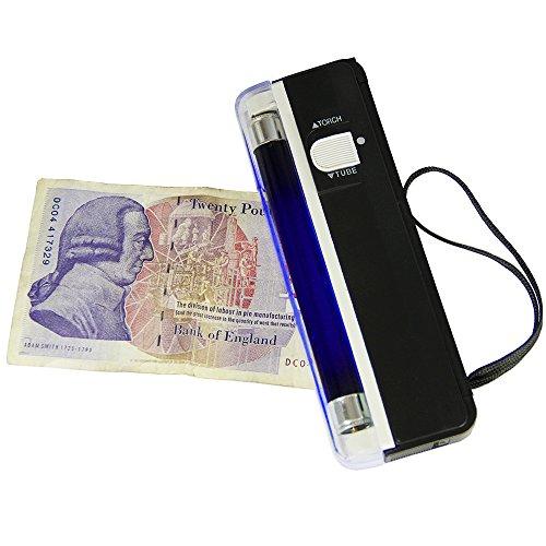 T-Mech Tragbarer UV Falschgeld Gelscheinprüfer Geldscheinprüfgerät Geldprüfer Falschgeld Detektor (Falschgeld-scanner)