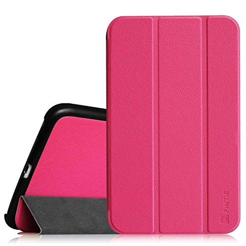 Fintie Samsung Galaxy Tab 4 8.0 Hülle Case - Ultra schlank superleicht Ständer Smart Shell Cover Schutzhülle Etui Tasche mit Auto Schlaf / Wach Funktion, Magenta