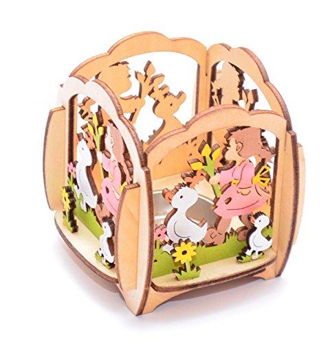 Soporte para vela de té, diseño de Pascua y primavera