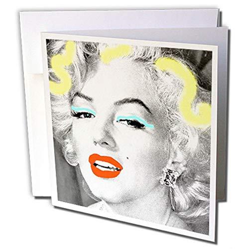 "3dRose gc_233927_2 Grußkarten\""Portrait of Marilyn Monroe Legendary Screen Actress\"", 15 x 15 cm, 12 Stück"