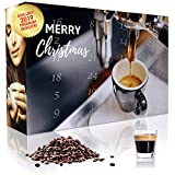 C&T Espresso Advent Calendar with 2 x 12 Different Varieties of Premium Espresso Beans (Whole Beans) for Ambitious Home Barista - Christmas Calendar for Adults - Café Gift Set Tasting Set