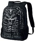 Spiral Skull Armour Backpack Black