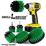 The Ultimate HSS-Brush Befestigung Spin Power Scrubber Vielzahl Reinigung Kit–Ideal für Dusche Schrubben, Teppich Reinigung, Fugen Schrubben, und Fliesen Reinigung Medium-green