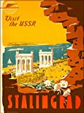 ABLERTRADE 8X12 inch Sign Visit The USSR Stalingrad Russia Vintage Russian Travel Art Retro Metal Poster Wall Decor Tin Signs