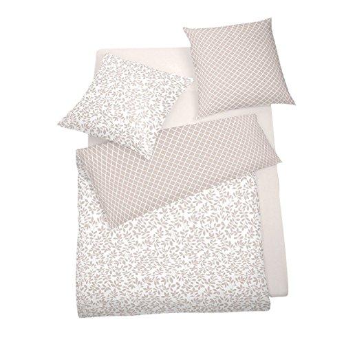 Schlafgut Edel Seersucker Bettwäsche Riso perlrosa 1 Bettbezug 135x200 cm + 1 Kissenbezug 80x80 cm
