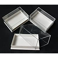 12 PERSPEX DISPLAY SPECIMEN BOX IDEAL FOR FOSSILS,METEORITES,DIE CASTS,COINS.ETC.