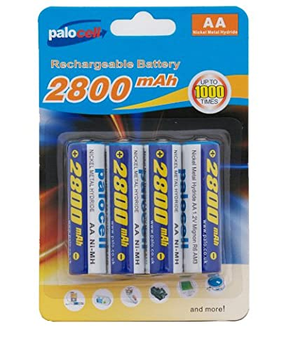 4 x Pack AA Palo Palocell Rechargeable Rechargable Batteries NIMH
