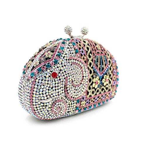 Pochette Di Alta Qualità Borsa Da Sera Di Lusso Del Diamante Delle Donne Pink