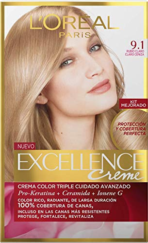 3x Die L 'Oreal Excellence Creme 9.1Blond klar Färbung Dye Haar (Excellence Creme)