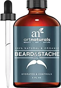 Art Naturals Organic Beard Oil Leave In Conditioner 2 Oz 100% Pure &Amp; Natural Unscented For Groomed Beard Growth, Mustache, Face ,Skin Softens Your Beard