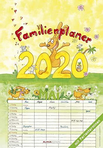 Familienplaner 2020 - Familienkalender (24 x 34) - Wandkalender - mit Ferienterminen - 6 Spalten - Wandplaner: by Silke Leskin