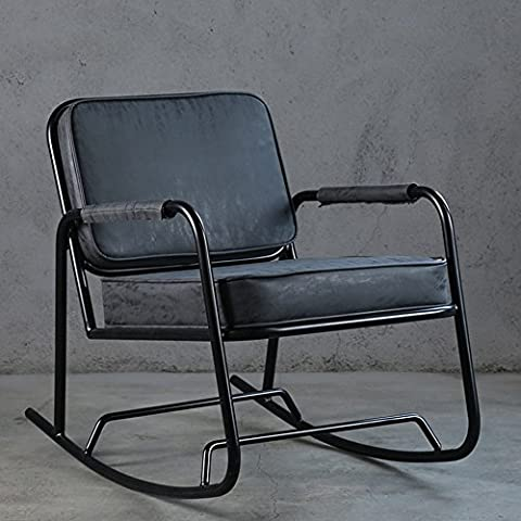 ASL Retro The Elderly Lounge Chair, Winter Loft Iron Rocking