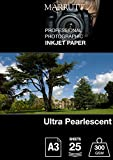 marrutt 300gsm Ultra Perlglanz hi-white-A3, 25Blatt