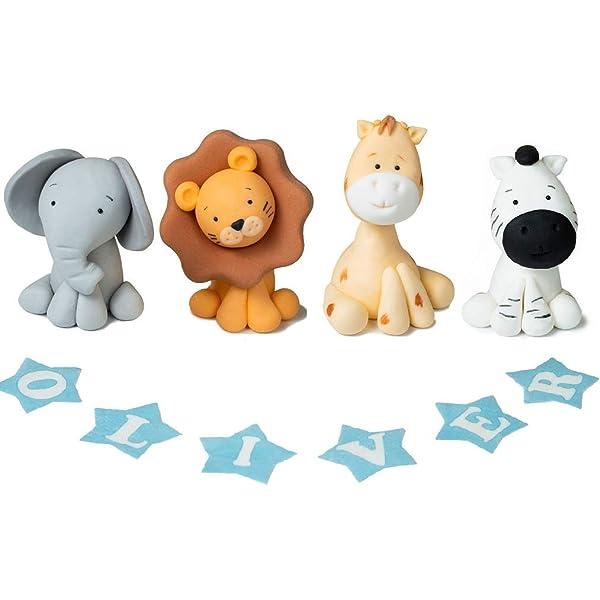 Wondrous Animals Cake Topper Birthday Party Decoration Personalised Custom Birthday Cards Printable Giouspongecafe Filternl